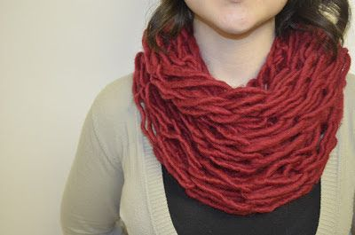 Arm Knit Scarf ~ Stuff and Spice