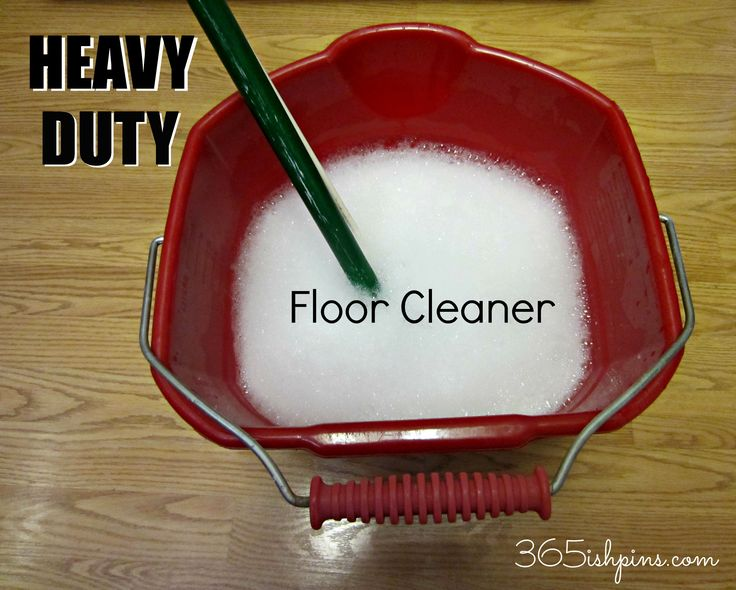 Heavy Duty Floor Cleaner DIY  *Note: the writer of the blog notes that this works best on tile floors...leaves a residue on laminate floors*