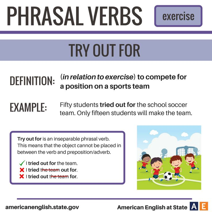 Phrasal Verbs: Exercise - Try Out For