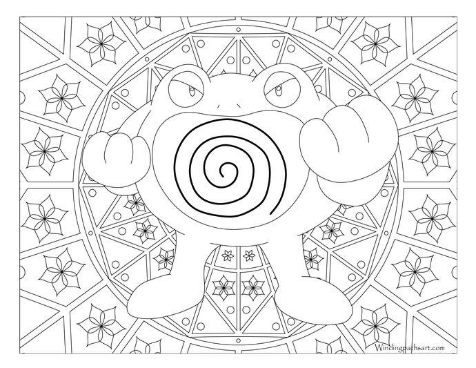 Poliwrath Pokemon #062   Pokemon coloring pages, Pokemon ...
