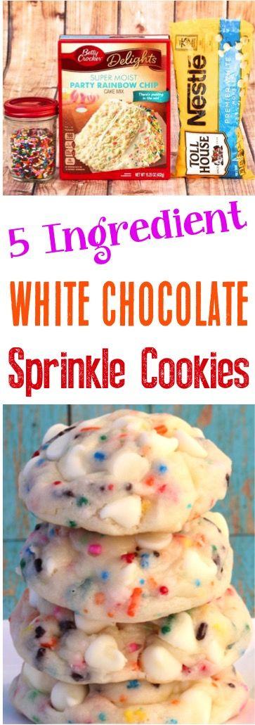 Fun Sprinkle Cookies Recipe for Kids! Cake Mixes always make dessert recipes so much easier!