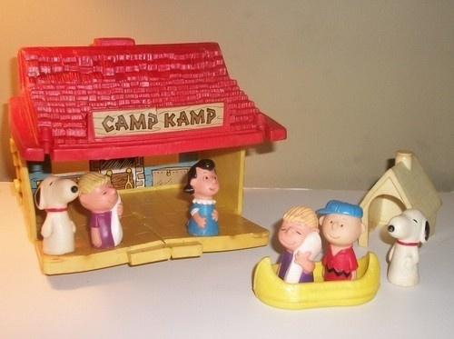 Vintage 1970's Peanuts Charlie Brown Snoopy Camp Kamp Play Set Figure Lot Toy | eBay