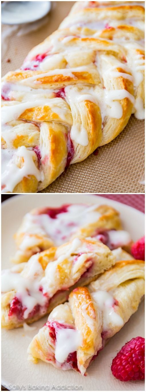 Christmast Breakfast & Brunch Recipes | Homemade Raspberry Danish Tutorial and Recipe-- I love this flaky, buttery, fruity pastry recipe!