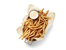 <p>Grand Rapids</p> <p>HopCat, Crack Fries</p> : <p>HopCat's founders settled on the final recipe for their crack fries (named for how addictive they are) while sitting around a table drinking beer — which could explain why the fries are battered in light beer before they're sprinkled with black pepper seasoning. Some people order extra toppings, like cheese sauce, jalapenos and onion, and almost everyone orders a cold one on the side. The owner's favorite: an IPA called Huma Lupa Licious…