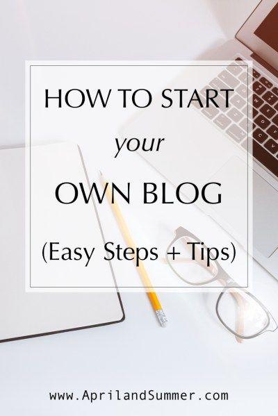 How to start your own blog (easy steps plus tips) #wordpressblog #startablog