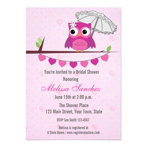 18 Best Images About Owl Bridal Shower Invitations On