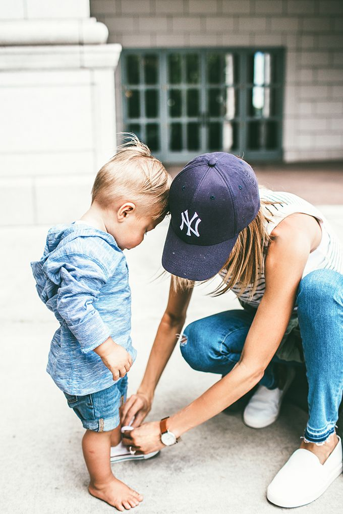 Mom and kid casual street style