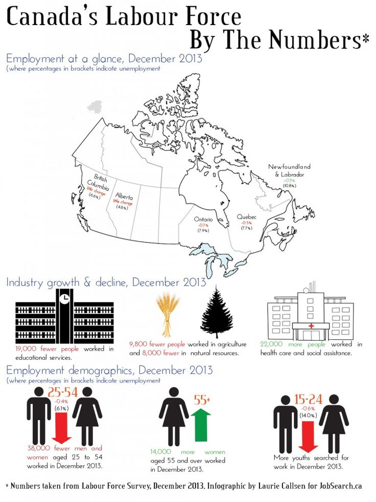 Infographic: Canadian labour market takes a hit in December - Laurie Callsen for JobSearch.ca