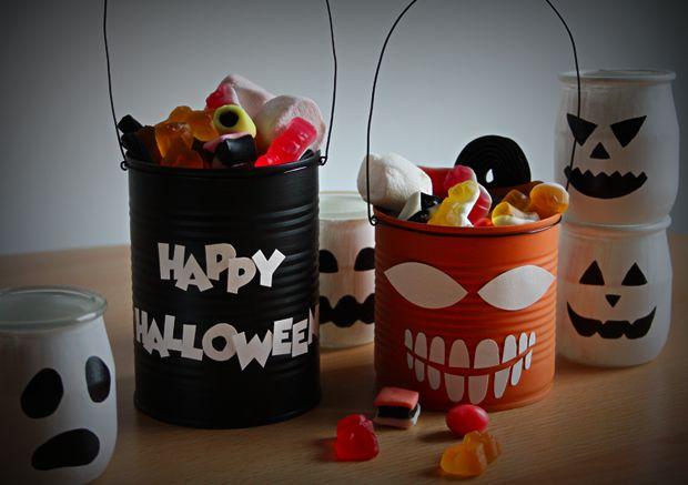 Des seaux à bonbons 100% récup' pour #halloween http://www.modesettravaux.fr/seaux-bonbons-halloween/