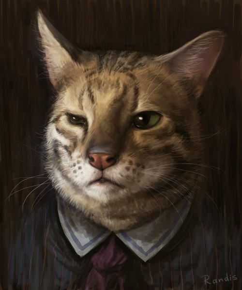 Victorian Cat Portraits by Randis Albion