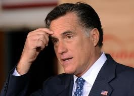 Mitt Romney Looking Concerned over Something
