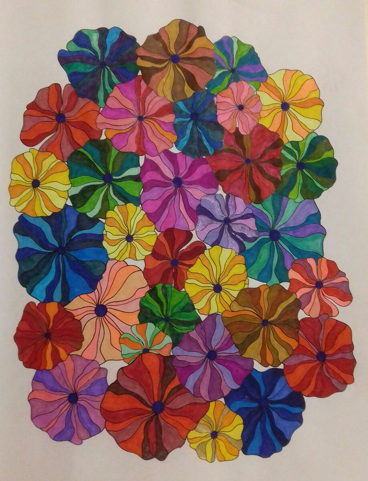 Week 68 flower designs vol. 1 by Jenean Morrison coloured by Artemis Anapnioti.