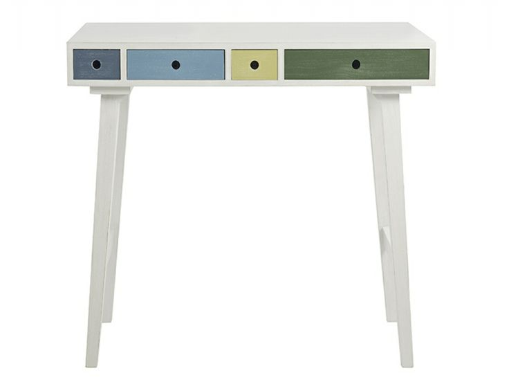 #FADSbagabed This would be brilliant for homework. Oslo Multi Coloured 4 Drawer Desk with Blue Drawer | Desks from FADS