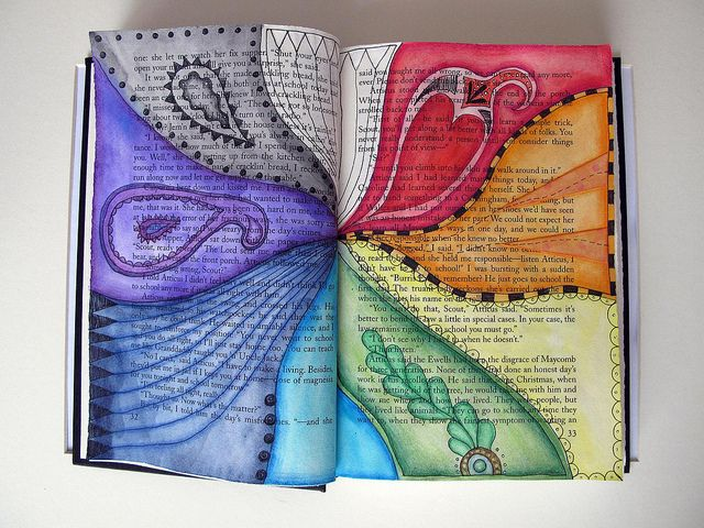 Custom Book Page - To Kill a Mockingbird by Phizzychick!, via Flickr