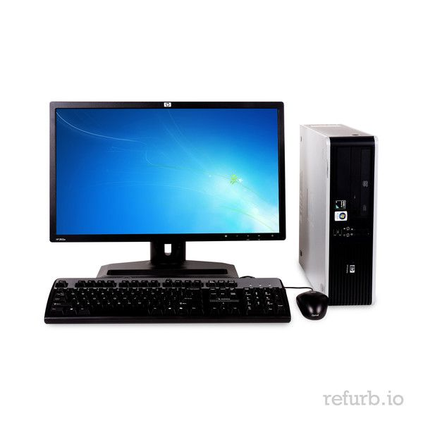 """*Manufacturer: HP *Model #: COMPAQ DC5750 BUSINESS *Form Factor: SFF *CPU: AMD ATHLON 64 X2 DUAL CORE 3800+ PROCESSOR 2.0GHz *Memory: 4GB *Memory Type: DDR2 *HDD: 250GB *Hard Drive Type: SATA *Optical: DVD *Monitor: 22"""" WIDE LCD *O/S: WINDOWS 7 HOME PREMIUM (W7HP), MICROSOFT AUTHORIZED REFURBISHER (MAR) *Keyboard & Mouse: YES"""