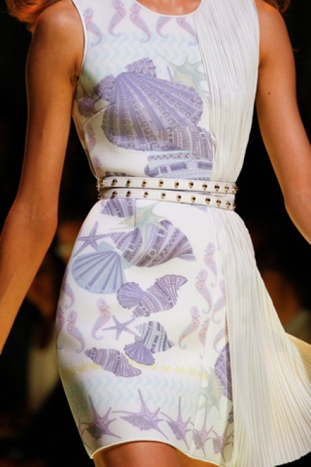 From Versace's Sea Inspired Spring 2012 Collection