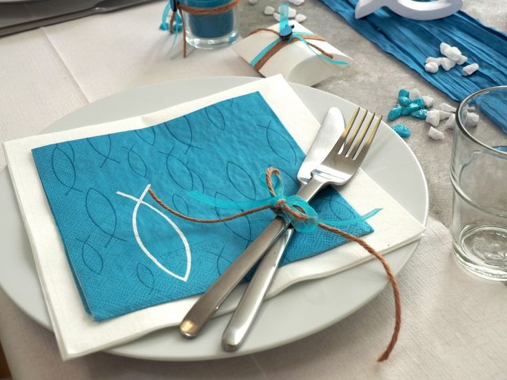 Serviettenring 6x Fisch Tischdeko Kommunion Konfirmation silber