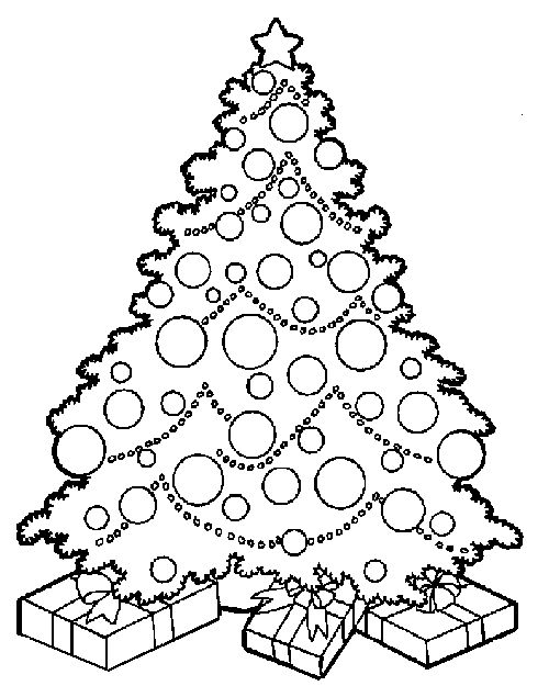 Free Christmas Coloring Pages- could make math problems with this.- color the ornaments so that there are more blue than red... on and on