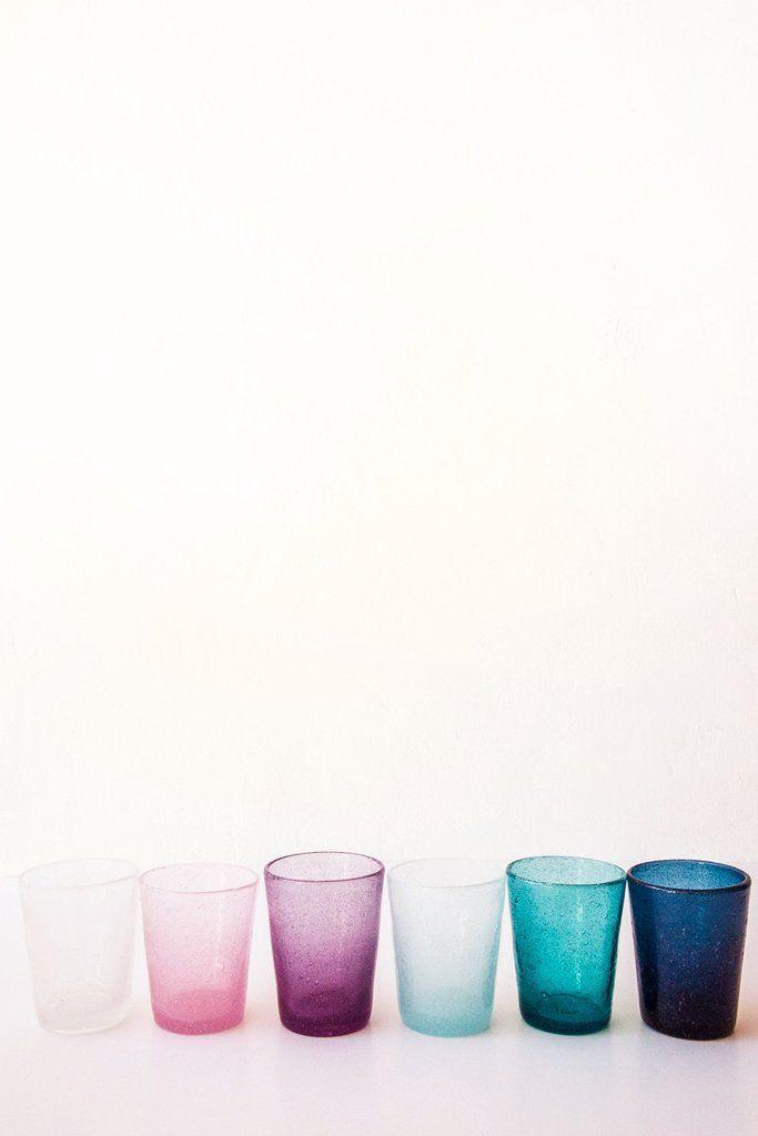 deep blue drinking glass – Lost & Found