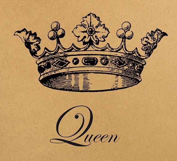 Queen crown Digital Image Download Sheet by