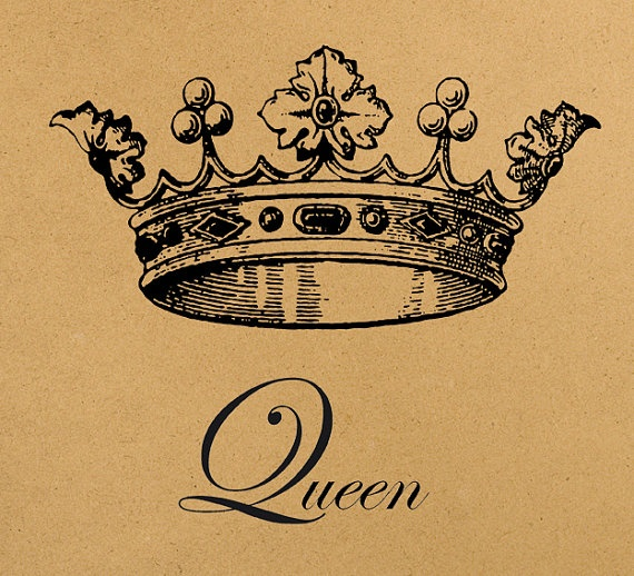 Queen crown digital image download sheet by for Crown royal tattoo