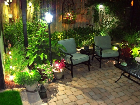 Pavers And Patio Lights .... Sunken Patio   Small Spaces