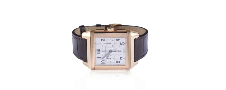 #MArchAuction26 Preview An elegant Jager Coultre Reverso Squadra Cronograph of 2009, in 18kt pink gold, mechanic