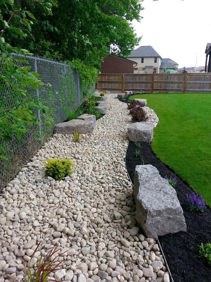 awesome river rock garden ideas