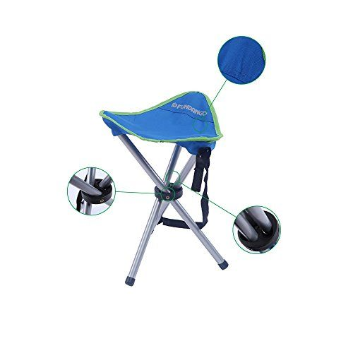 Camping Stools - FUNDANGO Ultra Light Portable Stable Folding Stool 33  33  43 cm  13  13  169 inches 08 kg  18 lbs * Want additional info? Click on the image.