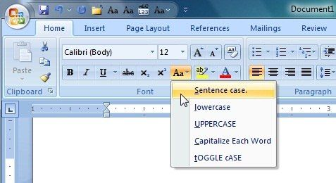 Block Letter Font On Microsoft Word