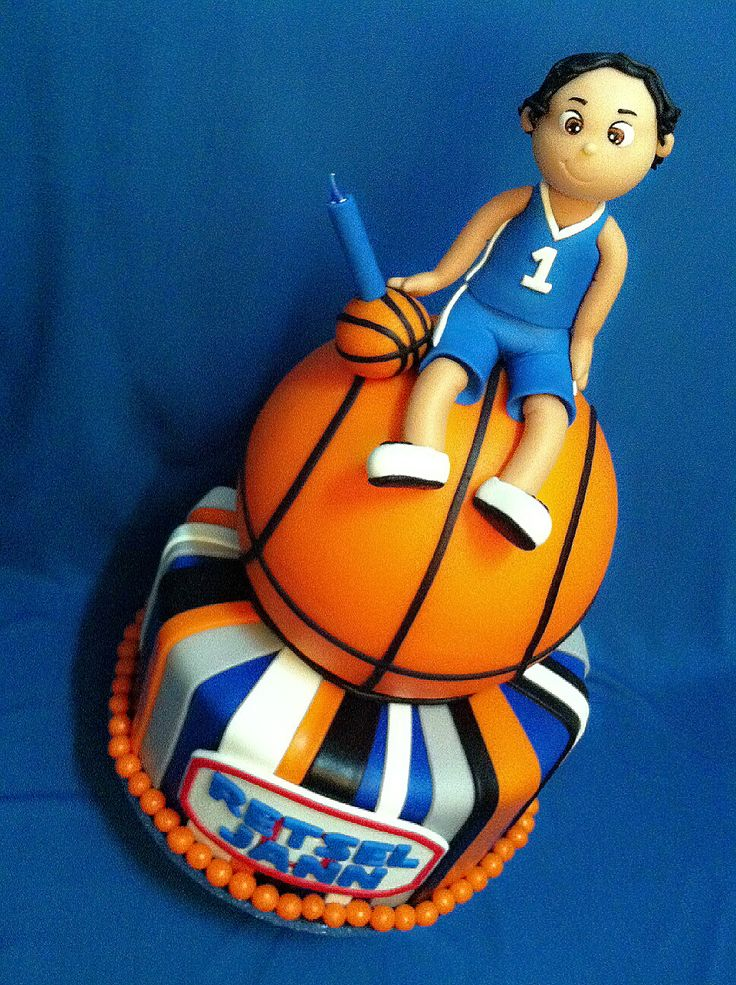 Basketball theme cake