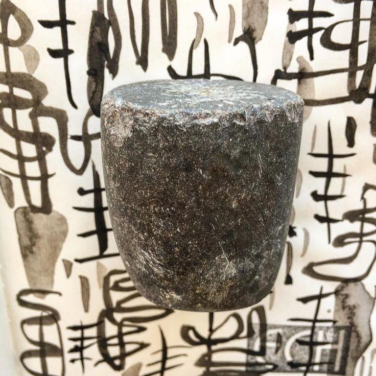 Found object Bushman hand tool on sketchbook. #haumannsmal #illustration #stone #stellenbosch #bushman