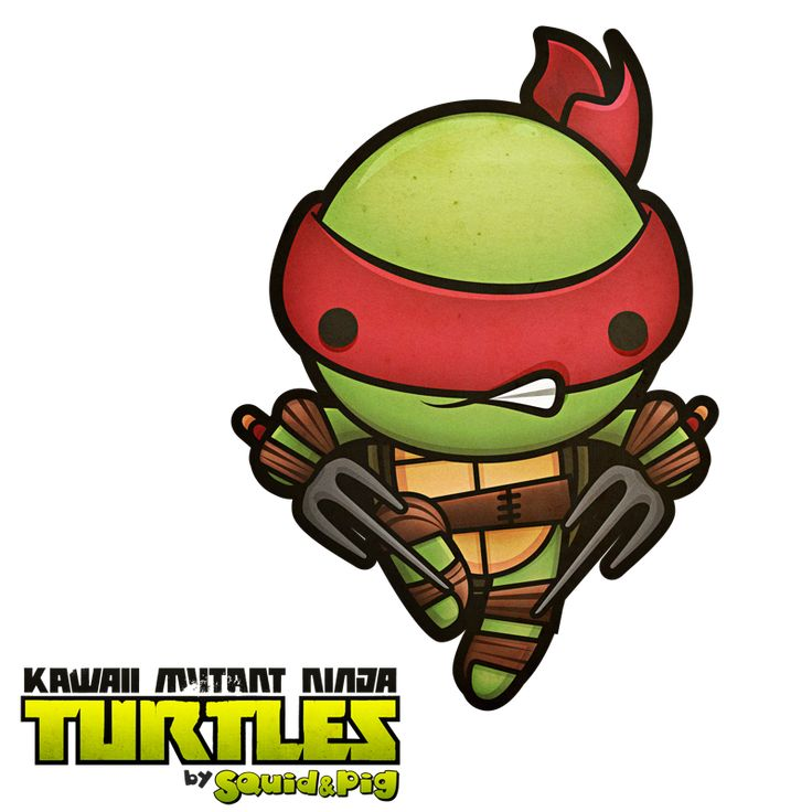 Raphael - Kawaii Mutant Ninja Turtles by SquidPig.deviantart.com on @deviantART