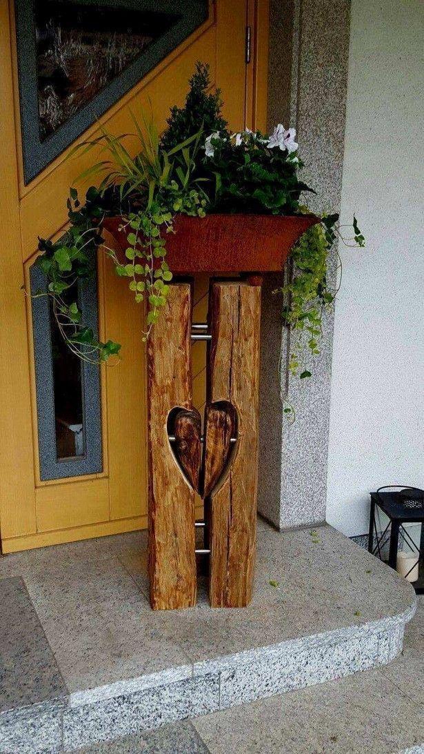 Holz Deko Fur Garten Selber Machen Holz Deko Fur Garten Selber Machen In 2020 Garden Art Diy Garden Art Sculptures Wood Crafts