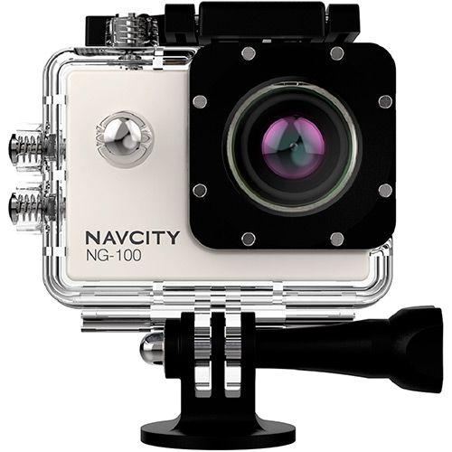 Submarino Câmera Esportiva Navcity Prata 12MP Filmagem Full HD 30M à Prova d'água + Selfie Stick - R$187,78