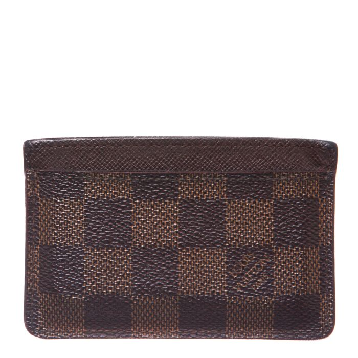 LOUIS VUITTON DAMIER Ebene CREDIT CARD HOLDER - Affordable Luxury