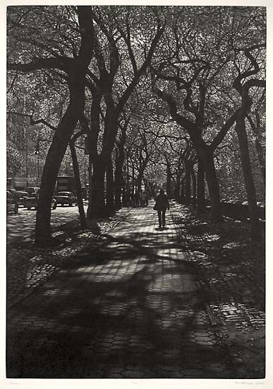 Art Werger - Central Park, New York (Mezzotint)