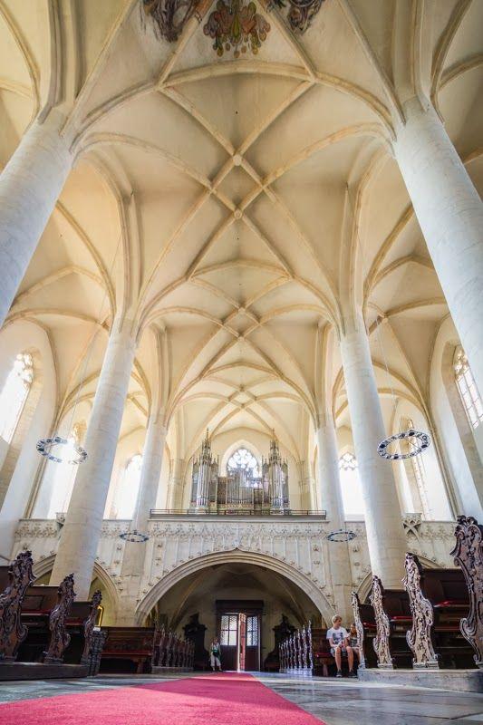 St. Nicolas church interior, Znojmo (South Moravia), Czechia