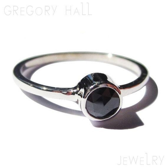 Sterling Silver 925 Black Diamond Wedding Band Engagement Ring Rings Jewelry Jewellery SSR-506 on Etsy, $139.00
