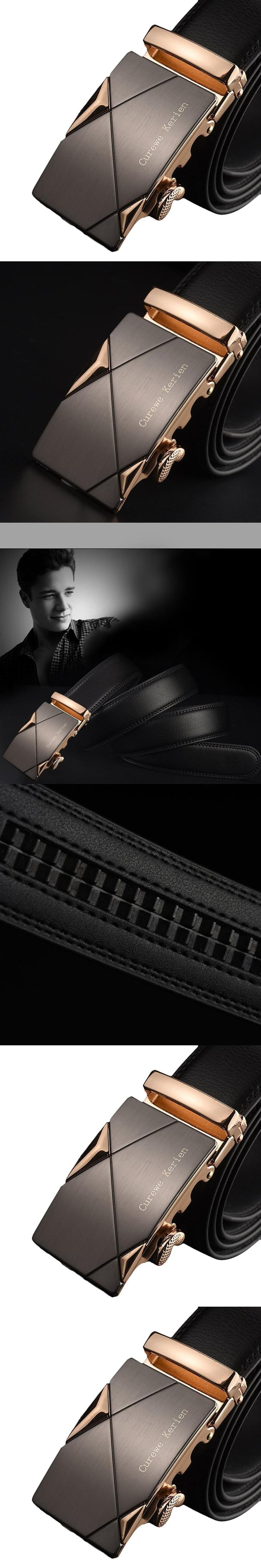 High Recommend Men Leather Automatic Buckle Belts Luxury Waist Strap Belt Waistband ceinture homme cintos para homens kemer