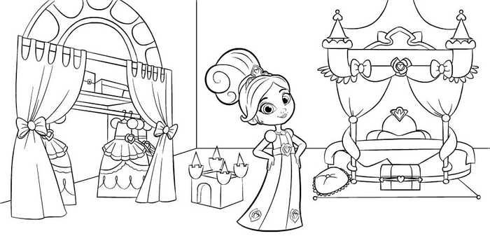 Nella The Princess Knight In Bedroom Coloring Page Owl Coloring Pages Birthday Coloring Pages Cartoon Coloring Pages