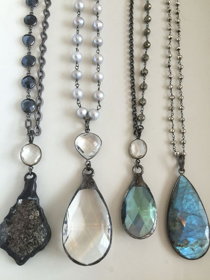 Gemstones, pearls and vintage, crystal, boho pendant necklaces . Email lisajilljewelry@gmail.com for retail or wholesale.