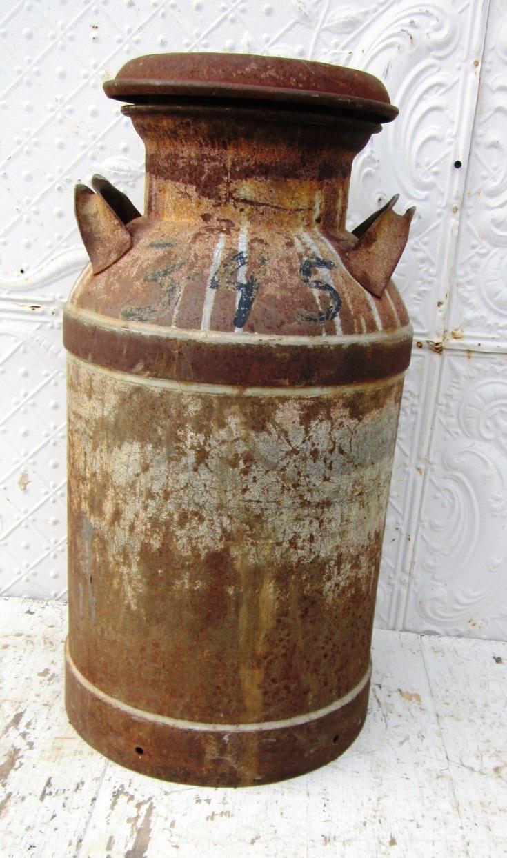 Old Rusty Metal Milk Can