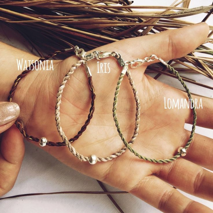 Image of Grass bracelets with single silver bead