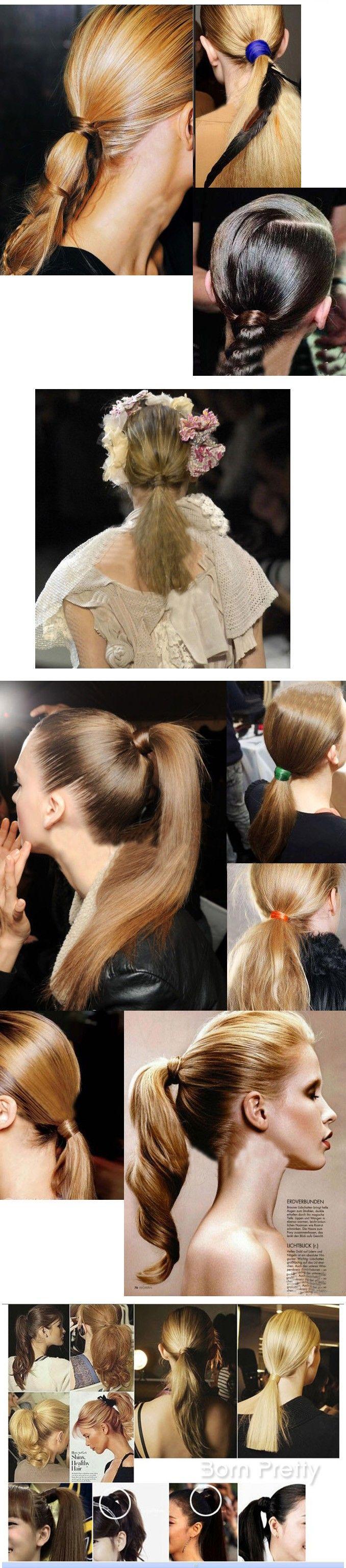 $1.92 Girl's Hairpiece Ponytail Holder Popular Hair Tie Band ( Random Color ) - BornPrettyStore.com