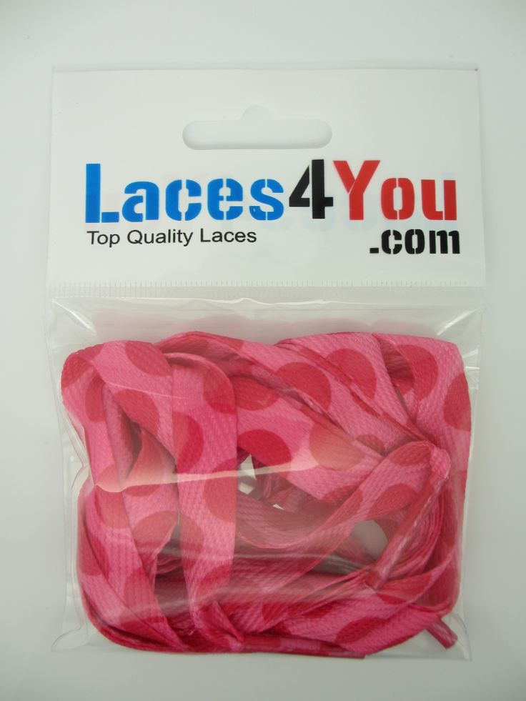 Pink & Pink Dots Laces.