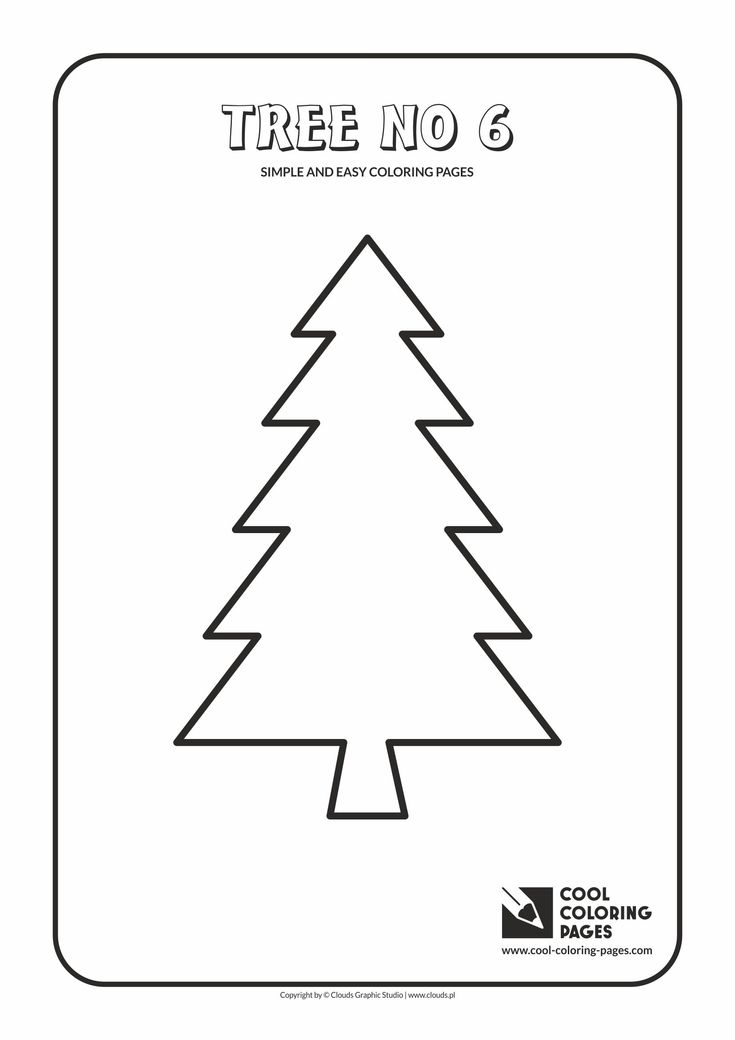 Simple and easy coloring pages for toddlers - Tree no 6