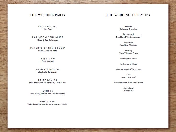 Best 25+ Wedding ceremony program template ideas on Pinterest - wedding program template