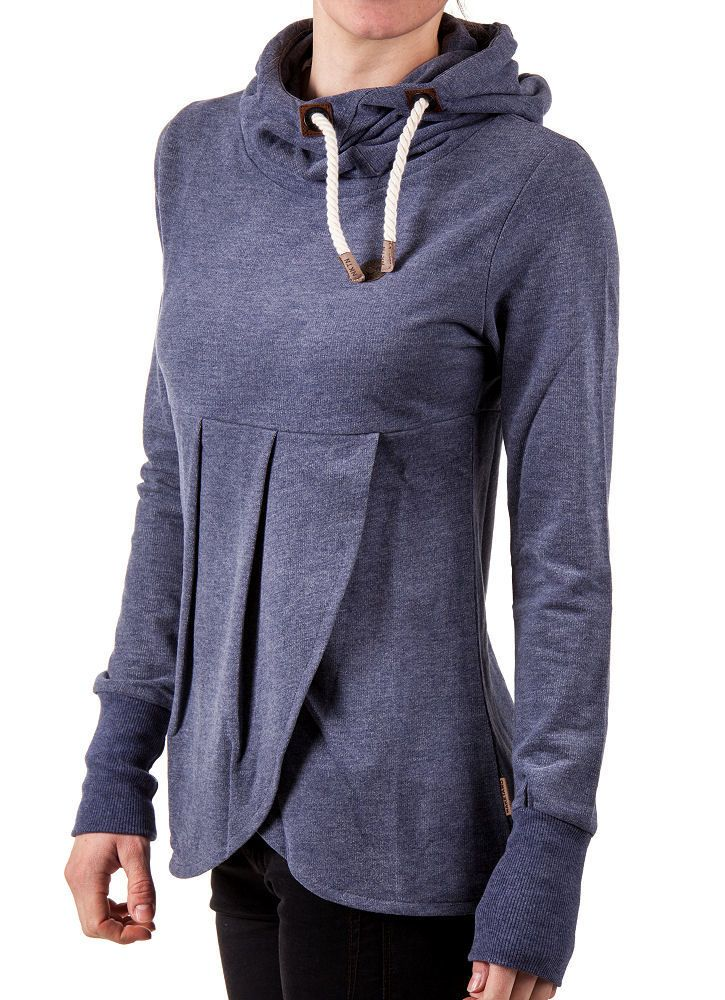 Hoodie refashion idea. This is an awesome idea to make a hoodie suitable for maternity wear.
