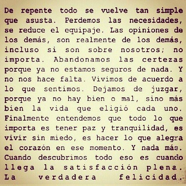 〽️De repente todo se vuelve tan simple...